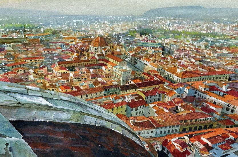 Florence, Original Watercolour Painting