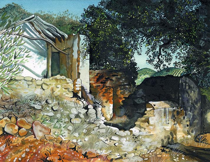 Spanish Ruin, Original Watercolour Painting