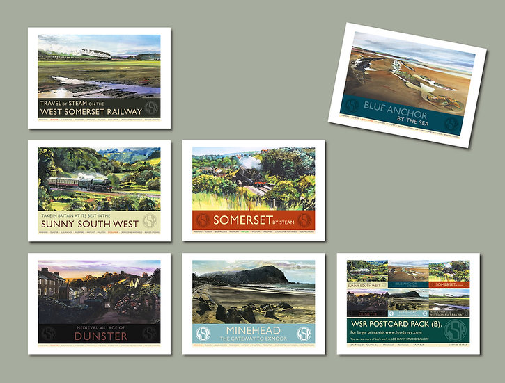 WSR Postcard Collection B. (Pack A. Also Available) NEW for 2020