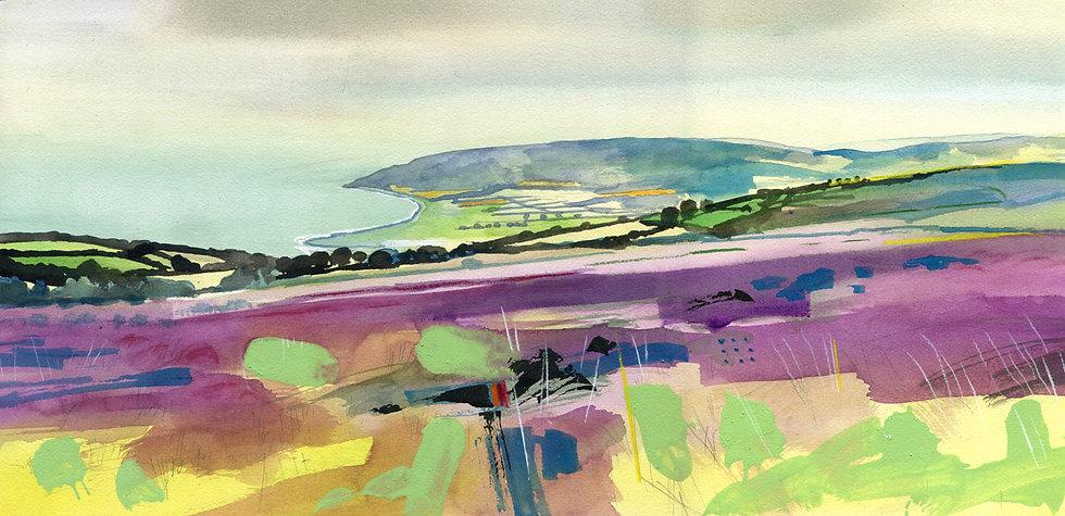 Hurlstone Point, Exmoor, Original Watercolour Painting