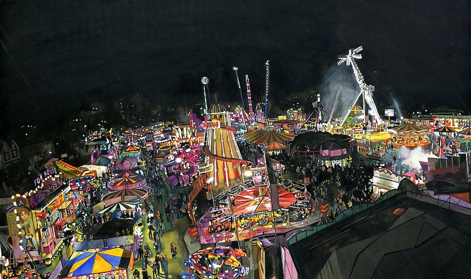 Revolution, Temporarily Suspended, Bridgwater Fair, Original Painting
