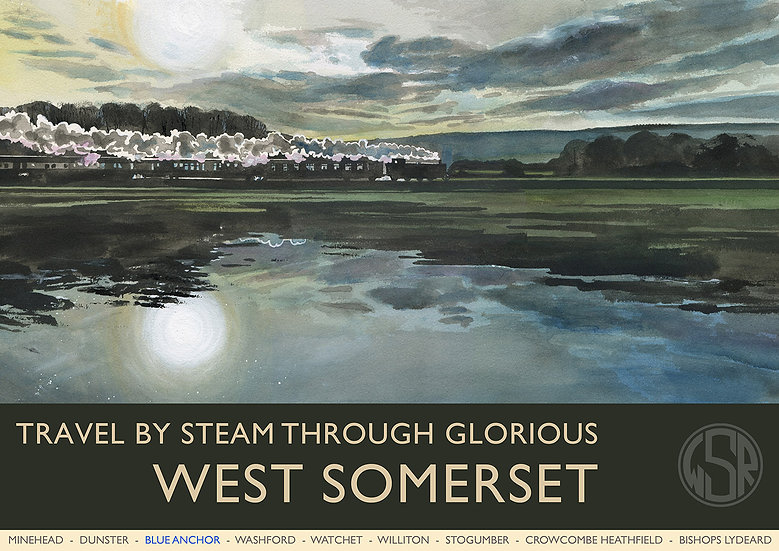 Glorious West Somerset (10 of 12 from NEW WSR Collection) Somerset Print