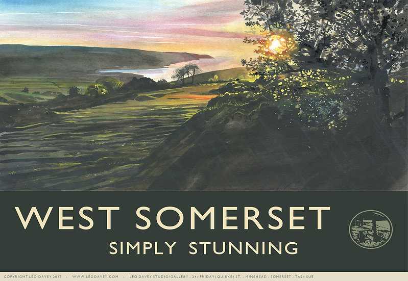 West Somerset, Simply Stunning, Exmoor Print