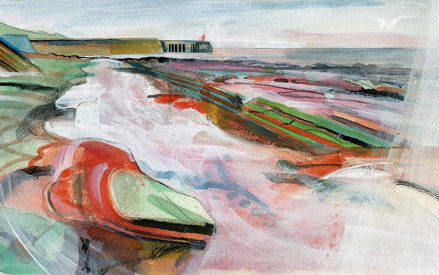 Watchet Harbour, Somerset, Original Watercolour Painting
