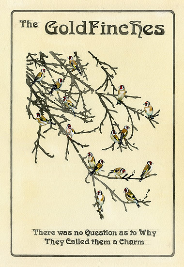 The Goldfinches, Bird Print