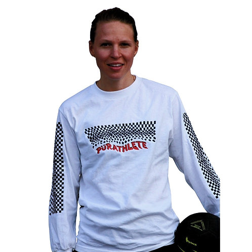Premium PürAthlete x Miranda Woods (Unisex Long Sleeve) -Chessboard Sleeves