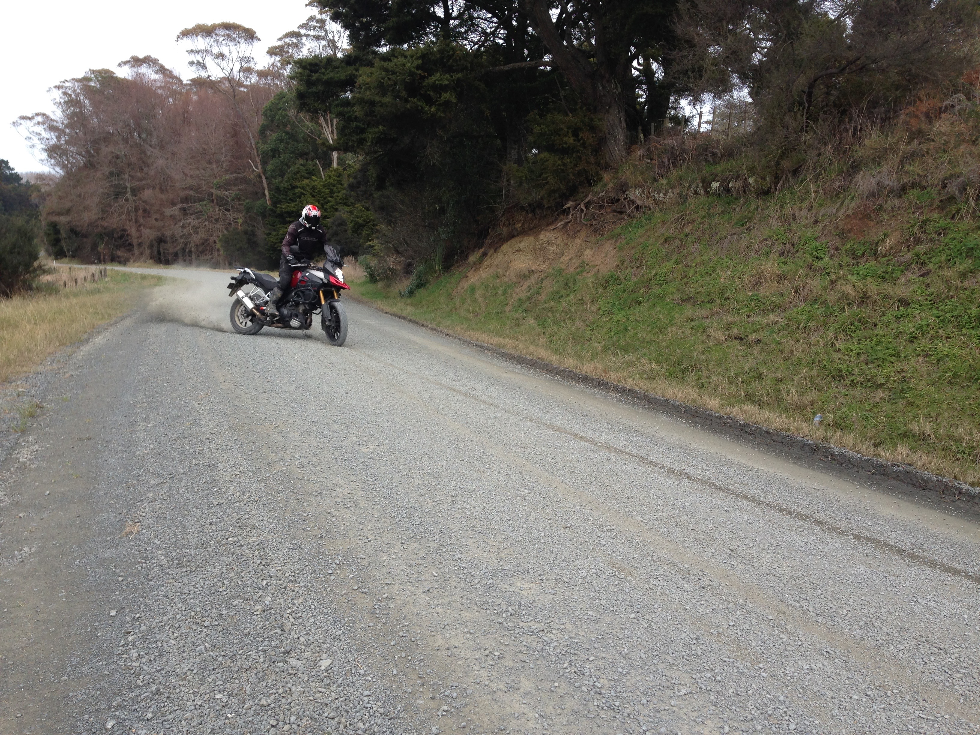 Gravel riding on our private road