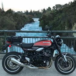 The Z900RS at Huka Falls