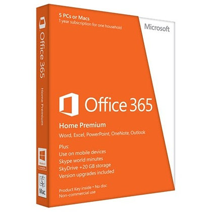 MS Office 365 Home Premium - 1 year, 5 devices