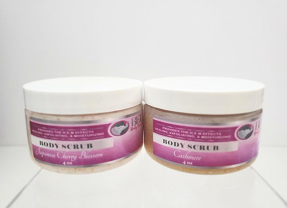 Two 4 oz Creamy Body Scrubs