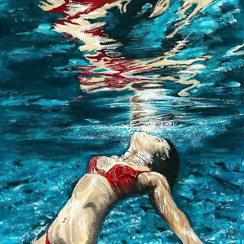 Red Bikini Swimmer