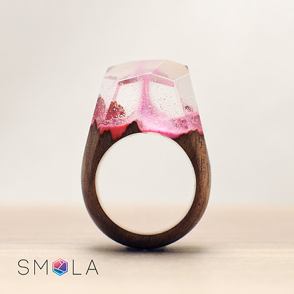 Кольцо Pink Wine (модель Crystal)