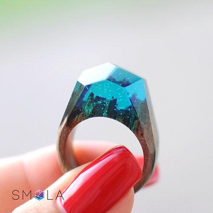 Кольцо Emerald City (модель Crystal)