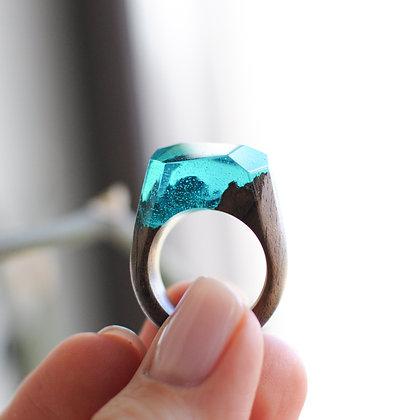 Кольцо Aquamarine
