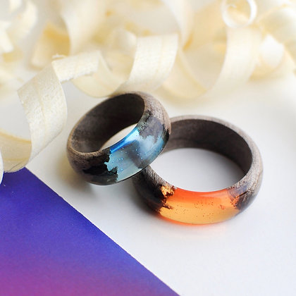 "Парные кольца ""For her for him"" (модель Simple) + фирменная подарочная коробочка"