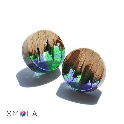 Серьги гвоздики North-lights  (модель Round Mini)