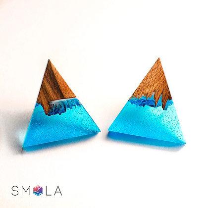 Серьги гвоздики Snow Valley (модель Delta Mini)