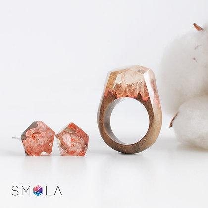 Кольцо Orange Silk (модель Crystal)