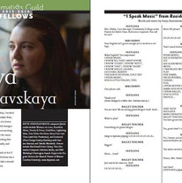 Publication in The Dramatist Magazine