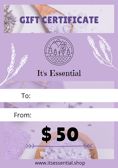 Gift Certificate $ 50