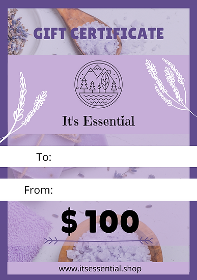 Gift Certificate $ 100