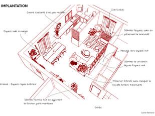 Maquette implantation séjour urban jungl
