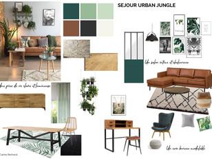 Planche tendance - Séjour urban jungle.j