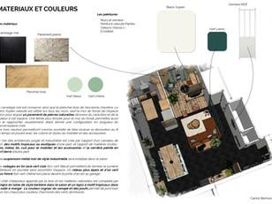 Planche matériaux et couleurs - Sejour u
