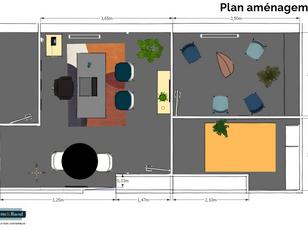Plan bureaux vintage