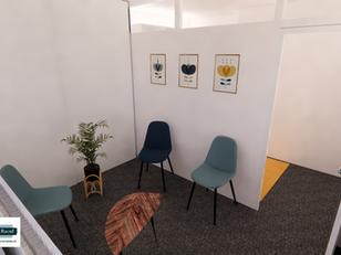 Visuel Visuel photoréaliste Salle d'attente