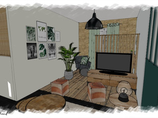 Séjour urban jungle - Croquis salon 2.jp