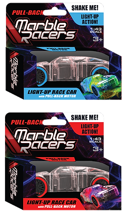 Pull-Back Marble Racers - 2 Pack