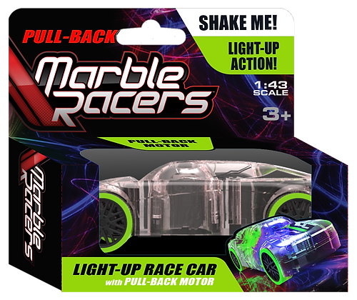 Pull-Back Marble Racers Green