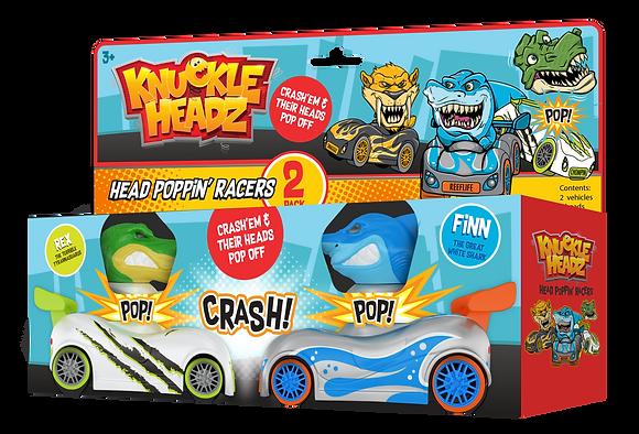 Knuckle-Headz Shark vs Dinosaur