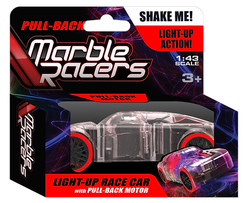 Pull-Back Marble Racers Red