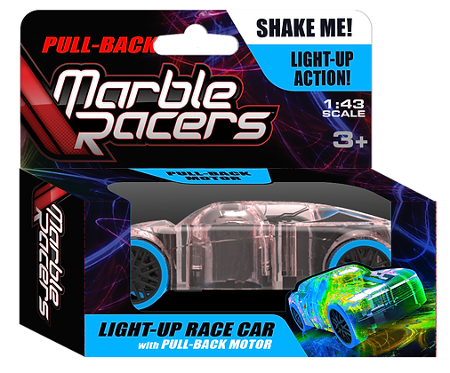 Pull-Back Marble Racers Blue
