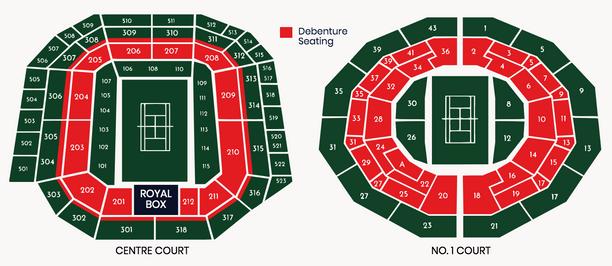 Wimbledon Debenture Tickets Seating Plan