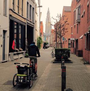 Met de fietskar door Antwerpen