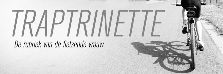 banner Traptrinette - De rubriek van de fietsende vrouw