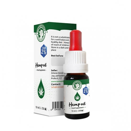 Hemp oil with crystallized CBD, 10ml