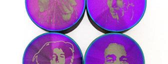 Grinder  Bob Marley 4-tlg., Regenbogen, 37 x 50 mm