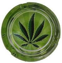 Aschenbecher aus Glas-hanf