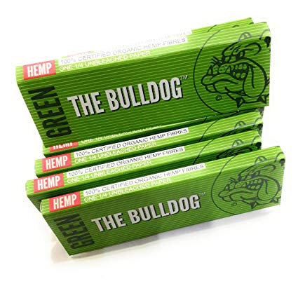 Papers Bulldog Hemp grün 1/4