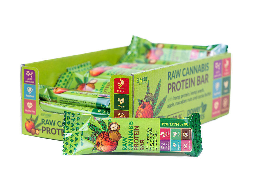 RAW CANNABIS PROTEIN BAR APPLE