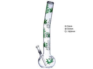 """Glasbong """"Hanf"""" Z Glas, 54cm"""