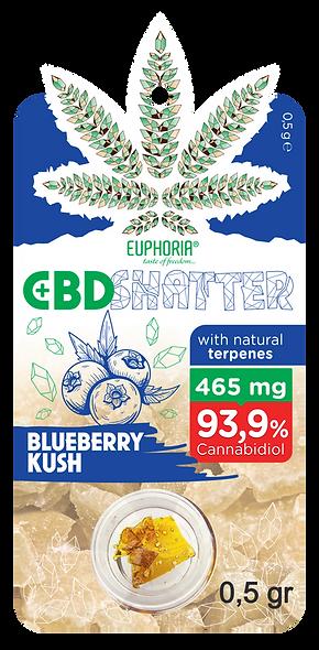 CBD Shatter Blueberry Kush 93 mg CBD
