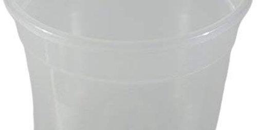 transparent plastic vase
