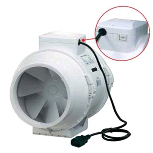 VENTILATION - TTRV VACUUM CLEANER Ø 125 WIRED DOUBLE + SWITCH - 220-280 MC / H