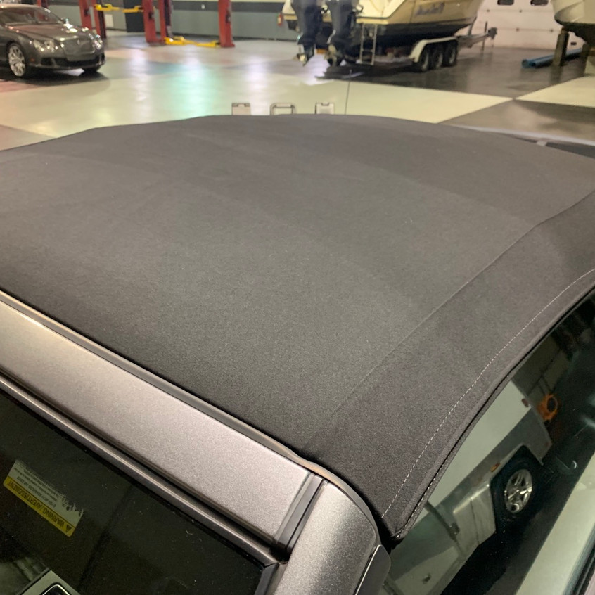 Brand new! Treated with a convertible top sealant