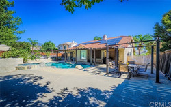 Backyard with a fresh water pool
